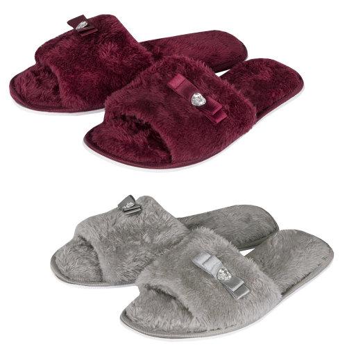 102B015, Ladies open toe slipper £2.50.  pk24...