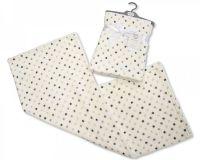 "BW977, ""Nursery Time"" Brand Baby Printed Wrap - Dots £2.90.  pk3..."