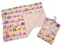 "BW968P, ""Nursery Time"" Brand Baby Girls Reversible Wrap - Animals £4.95.  pk2.."