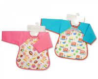 "BW813, ""Nursery Time"" Brand Baby PEVA Bibs with Sleeves £1.95.  pk12.."