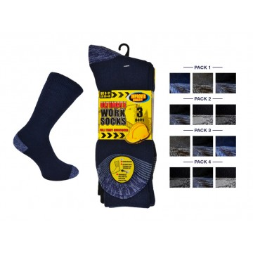 ERBM1, Mens Ultimate Work Socks £7.50 a dozen. 14 dozen....