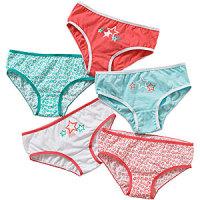 CN1305501CORAL, Girls 5 in a pack briefs £2.65.  20pks...