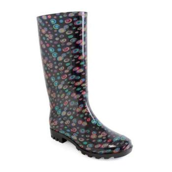 FT1260, Ladies Circle Print PVC Wellington Boot £7.75.  pk12..
