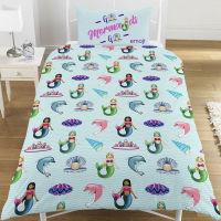 """*V28, Official Emoji """"Unicorn/Mermaid"""" reversible single duvet cover set £10.75. pk3..."""