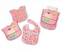 "BW818G, ""Nursery Time"" Brand Baby Girls 3 in a pack Polyester Bibs - Sweetest £2.50.  6pks..."