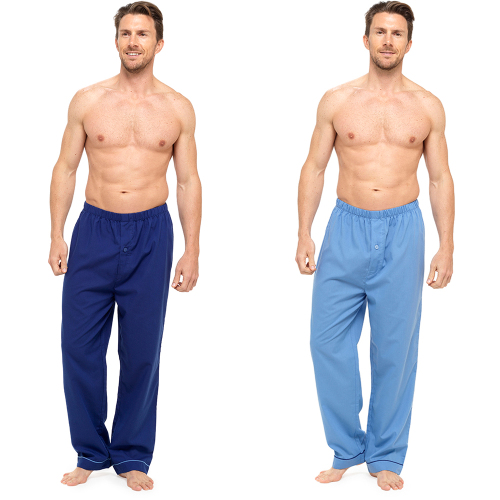 *HT053, Mens 2 in a pack poly cotton bottoms with button fly detail £5.00.  24pks...