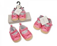 """BSS550, """"Nursery Time"""" Brand Baby Girls Shoes with Bow £2.40. pk8..."""