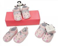 "BSS549, ""Nursery Time"" Brand Baby Girls Shoes - Bunny £2.40. pk8..."
