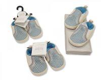 "BSS472, ""Nursery Time"" Brand Baby Boys Crochet Shoes £2.50. pk8..."