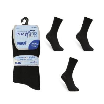 Code:1919, Mens 3 in a pack non elastic black socks £1.06. 10 dozen (120 PAIRS).....