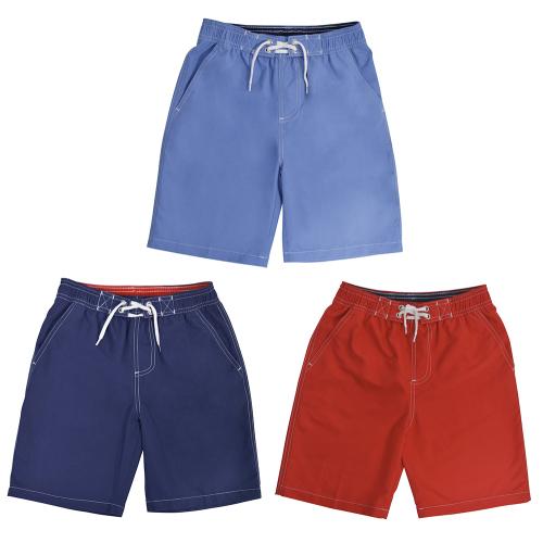 *LN133, Boys swim shorts with contrast colour waistband £3.75.  pk12..