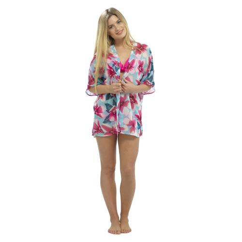 LN462, Ladies floral print kimono £2.75.  pk24...