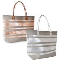 *BB988A, Paperstraw Metallic Striped Bag £3.70.  pk6..