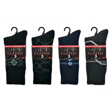 *Code:1705, Mens 3 in a pack suit design socks (OUT OF STOCK) £0.90.  10 dozen (120 PAIRS)...