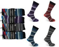 Code:2022, Mens fashion stripe design socks £3.75 a dozen.  10 dozen (120 pairs)....