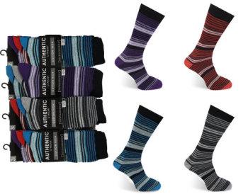 Code:2022, Mens fashion stripe design socks.   1 dozen....