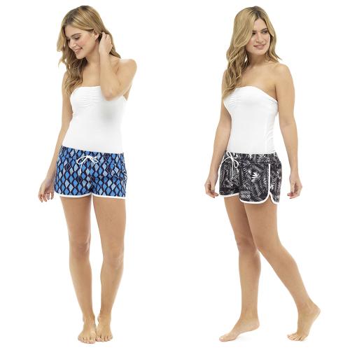 LN532A, Ladies Printed Beach Shorts £4.75.  pk30...