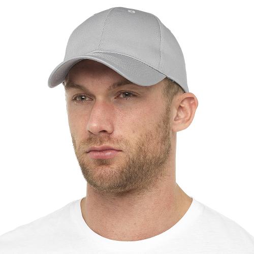 GL789GY, Mens Grey Baseball Cap £1.10.  pk48...