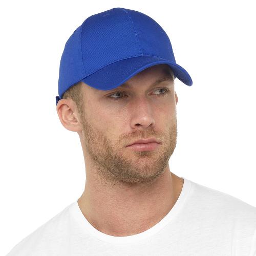 GL792BL, Mens Royal Blue Baseball Cap £1.10.  pk48...