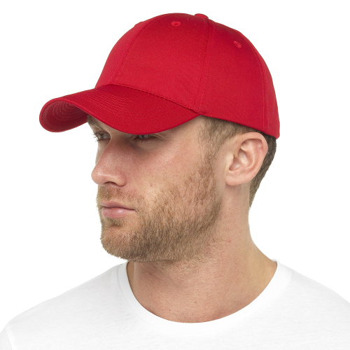 GL791RD, Mens Red Baseball Cap £1.10.  pk48...