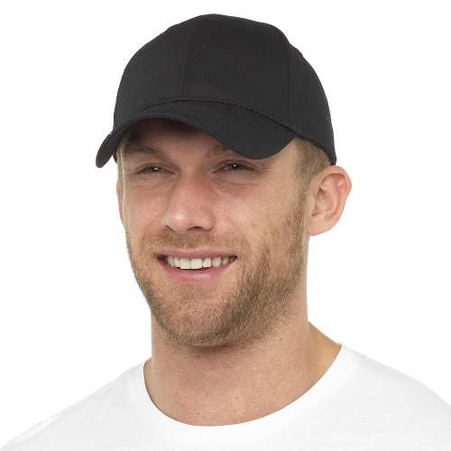 GL786BK, Mens Black Baseball Cap £1.15.  pk72...