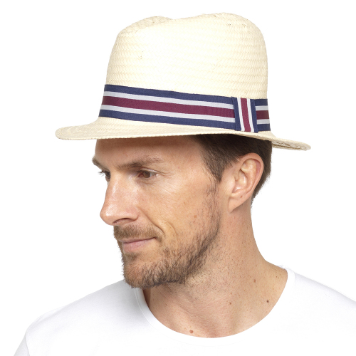 GL774, Mens Straw Panama Hat £3.00.  pk24..