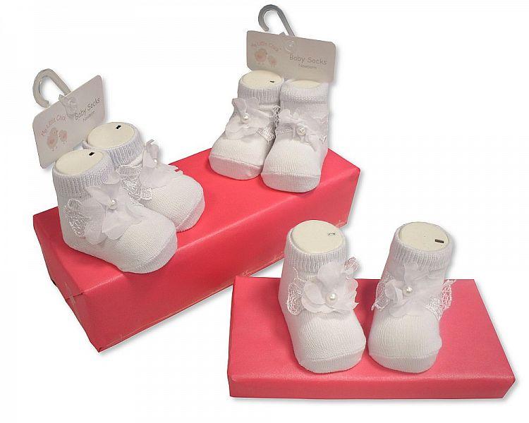 BW2187, Baby Girls Socks £1.50.  pk6..