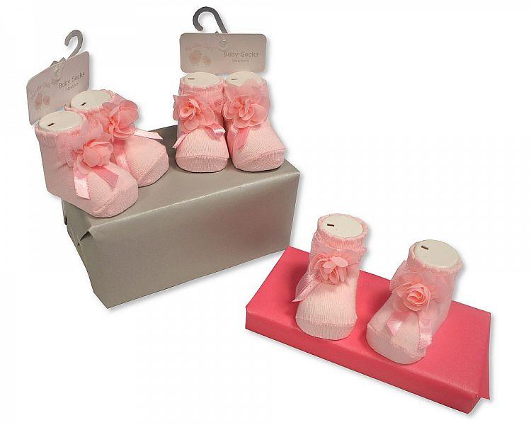 BW2186, Baby Girls Socks £1.50.  pk6..