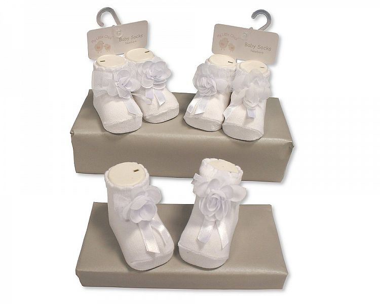 BW2185, Baby Girls Socks £1.50.  pk6..