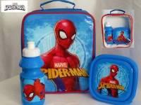 "Code:7692, Official ""Spiderman"" boys 3 pcs lunch bag set £3.75.  pk12..."