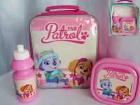 "Code:7190, Official ""Paw Patrol"" girls 3 pcs lunch bag set £3.85.  pk6..."