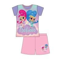 "Code:28799, Official ""Shimmer & Shine"" girls shortie pyjama £3.00. pk18.."