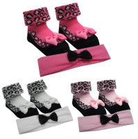 """10C067, """"BabyTown"""" brand baby girls socks & matching headband set £1.15.   pk12..."""