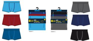 BR215, Boys 3 in a pack trunks £3.35.  12 pks....