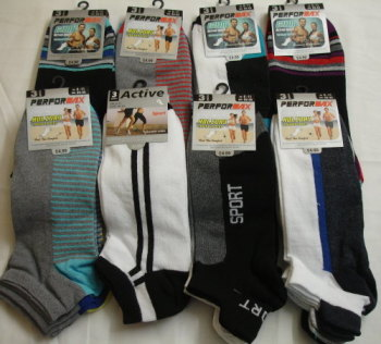 CTN11, 30 Dozen (360 pairs) Mens 3pk Assorted Trainer Socks £2.60 per dozen..