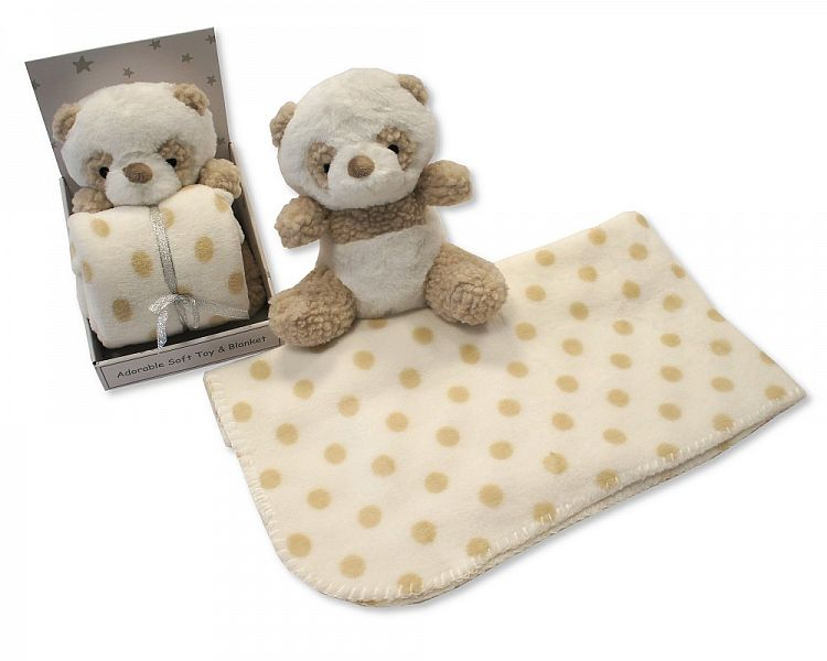 GP0820, Baby Soft Toy with Blanket in Box - Panda - Cream £6.95.   PK6..