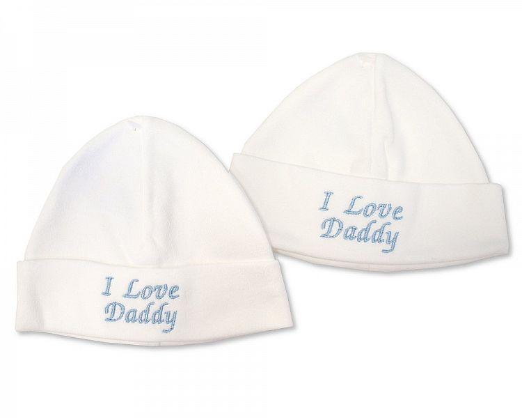 BW448, Baby Boys Cotton Hat - I Love Daddy £2.10.  PK6..