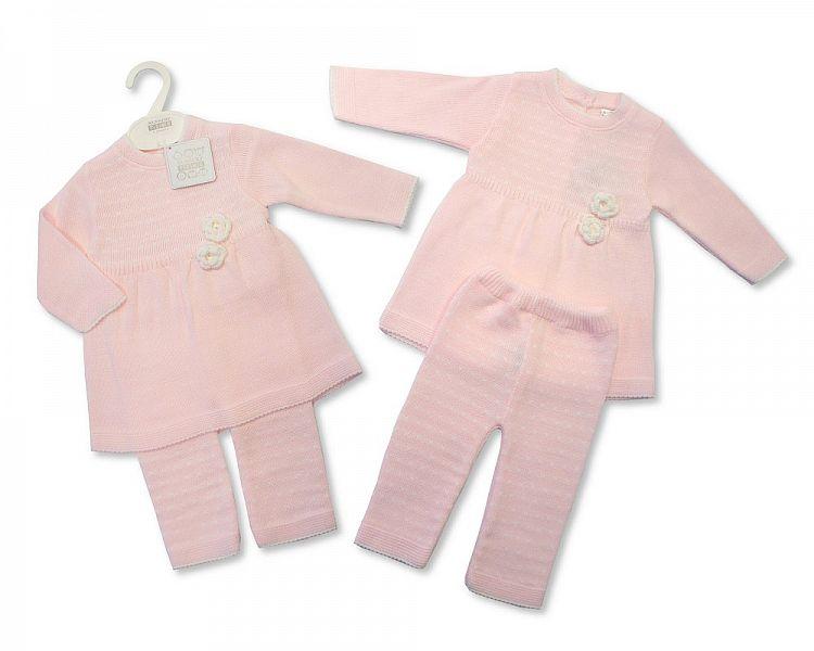 BW777, Knitted Baby Girls 2 Pieces Legging Set £12.60.  PK6..