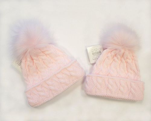 BW330P, Baby Girls Pom-Pom Hat with Cotton Lining £5.40.  PK6..