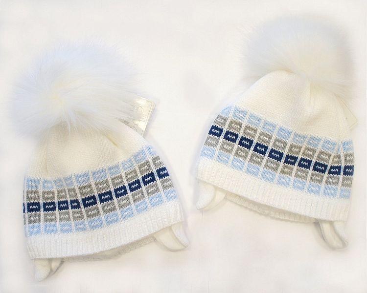 BW328W, Baby Boys Pom-Pom Hat with Cotton Lining £5.40.  PK6..