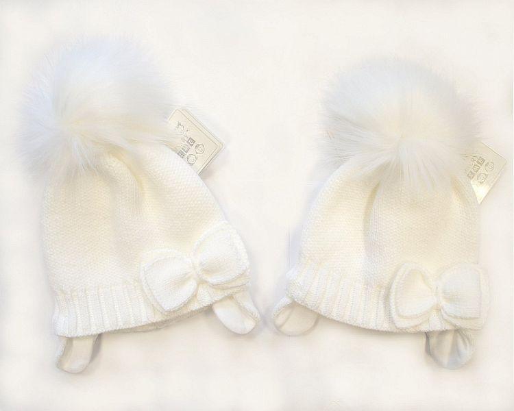 BW327W, Baby Girls Pom-Pom Hat with Cotton Lining £5.70.  PK6..