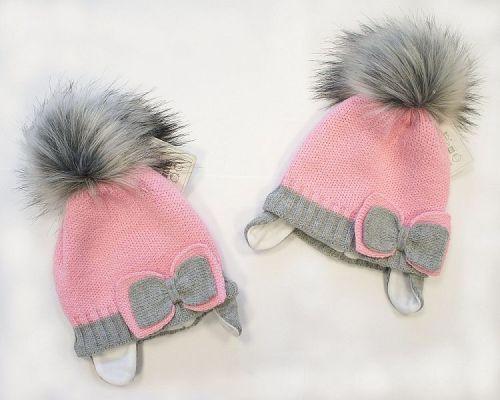 BW327R, Baby Girls Pom-Pom Hat with Cotton Lining £5.70.  PK6..