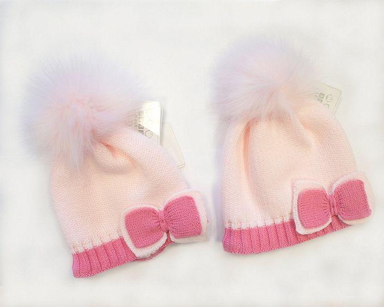 BW327P, Baby Girls Pom-Pom Hat with Cotton Lining £5.70.  PK6..