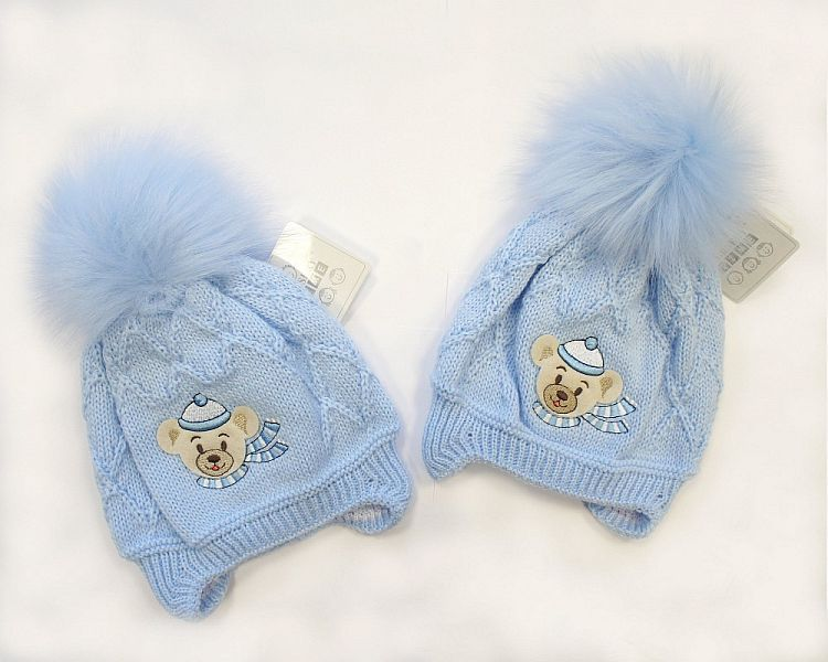 BW326W, Baby Boys Pom-Pom Hat with Cotton Lining ££5.70.  PK6..