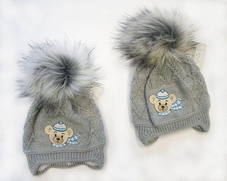 BW326G, Baby Boys Pom-Pom Hat with Cotton Lining ££5.70.  PK6..