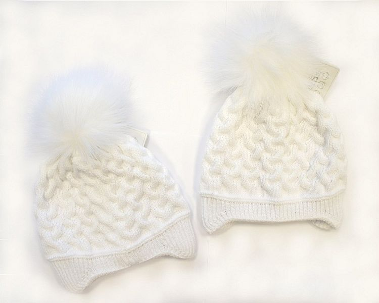 BW325W, Baby Girls Pom-Pom Hat with Cotton Lining £5.40.  PK6..