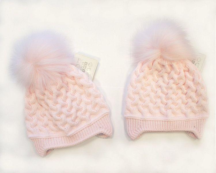 BW325P, Baby Girls Pom-Pom Hat with Cotton Lining £5.40.  PK6..