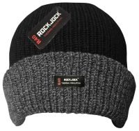 "HAI709R, ""RockJock"" brand Men's Hat with Melange Turnup and Thermal Insulation £1.25.  pk12.."