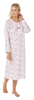 "*MA15107, ""Marlon"" brand ladies jersey knitted long sleeve nightdress (OUT OF STOCK) £6.75.  pk2.."