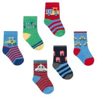 44B768, Baby boys 3 in a pack cotton rich design socks £1.10.   8pks...